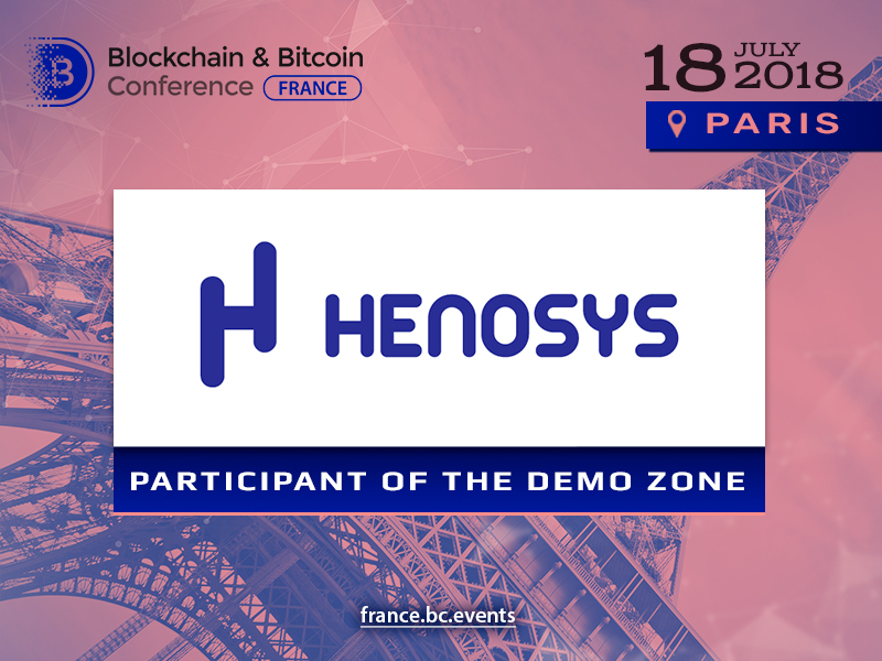 Henosys will be exhibitor of Blockchain & Bitcoin Conference France