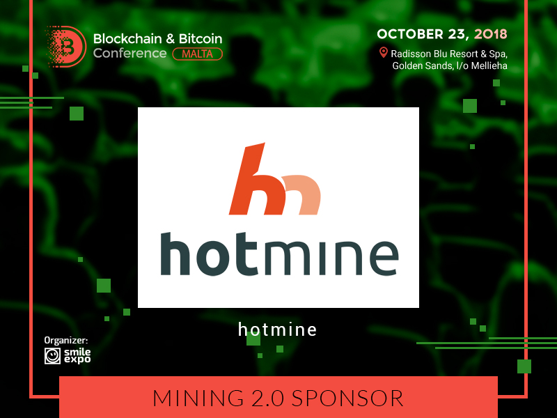 Hotmine – the Sponsor at the Blockchain & Bitcoin Conference Malta