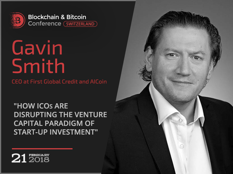 How ICOs disrupt the Venture Capital paradigm of startup investment? Keynote speaker Gavin Smith