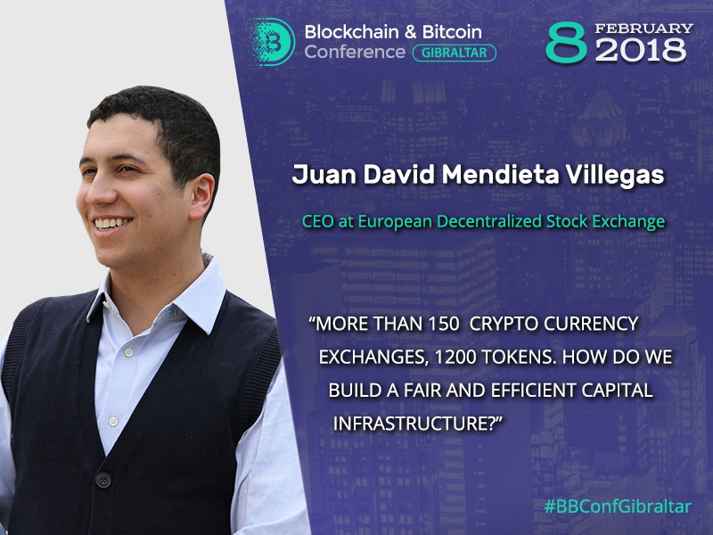 How to make a capital on cryptocurrencies? Juan David Mendieta Villegas will explain at Blockchain & Bitcoin Conference Gibraltar 2018