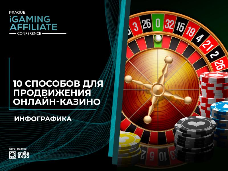 Инфографика: 10 действенных способов продвижения онлайн-казино