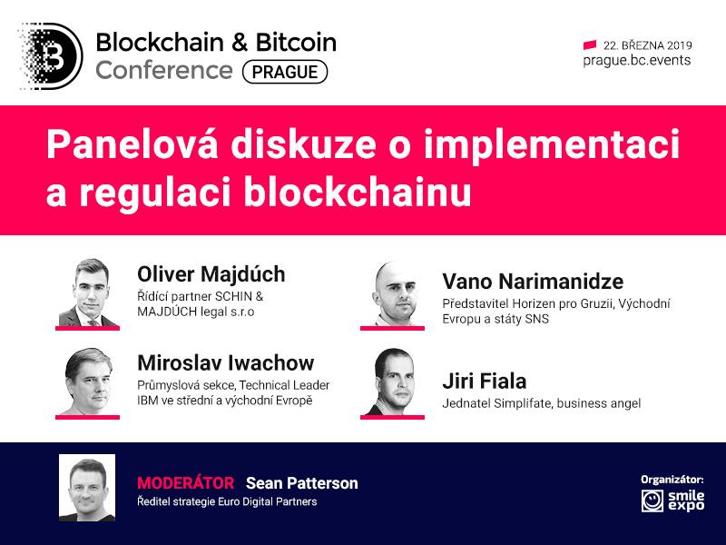 Integrace a regulace blockchainu: žhavé téma panelové diskuze