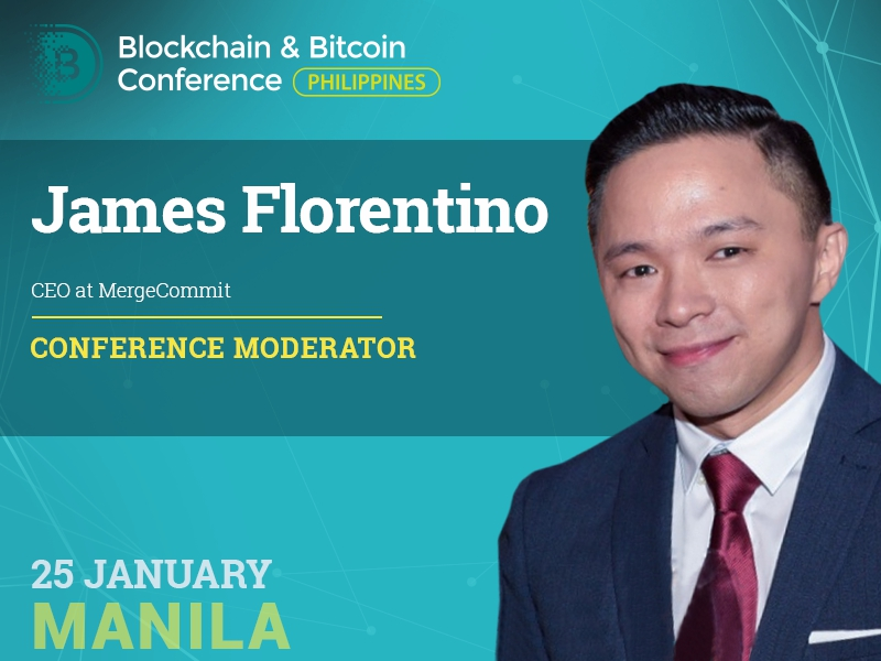 Introducing the conference moderator: James Florentino, founder of the first bitcoin exchange in the Philippines