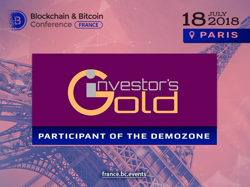 Investor's Gold blockchain platform to exhibit at Blockchain & Bitcoin Conference France