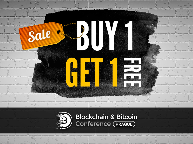 Buy one – get two: get every second ticket to Blockchain & Bitcoin Conference Prague as a present
