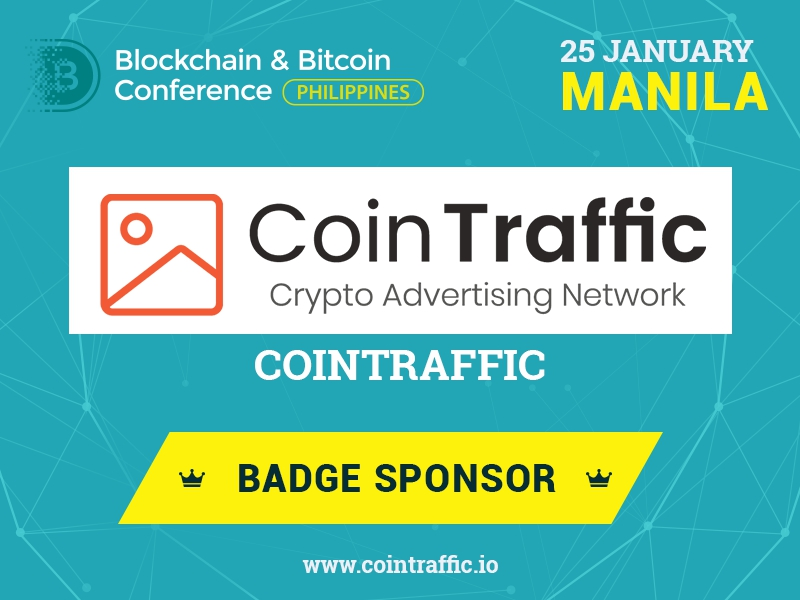 Largest Bitcoin advertising network CoinTraffic is Sponsor of Blockchain & Bitcoin Conference Philippines