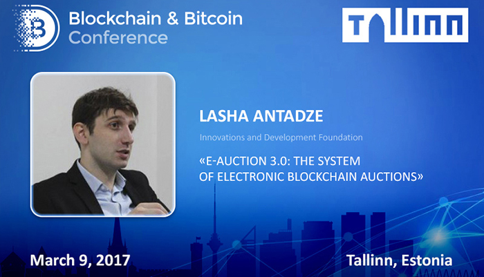 Lasha Antadze, e-Auction developer and speaker at Blockchain & Bitcoin Conference Tallinn on the Ukrainian experience