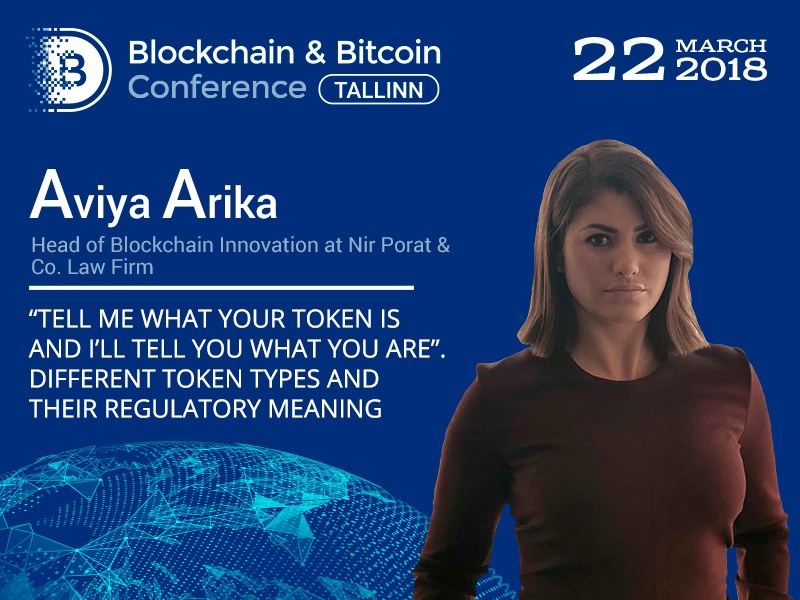 Leading lawyer on blockchain Aviya Arika to talk about legal regulation of tokens, depending on their type