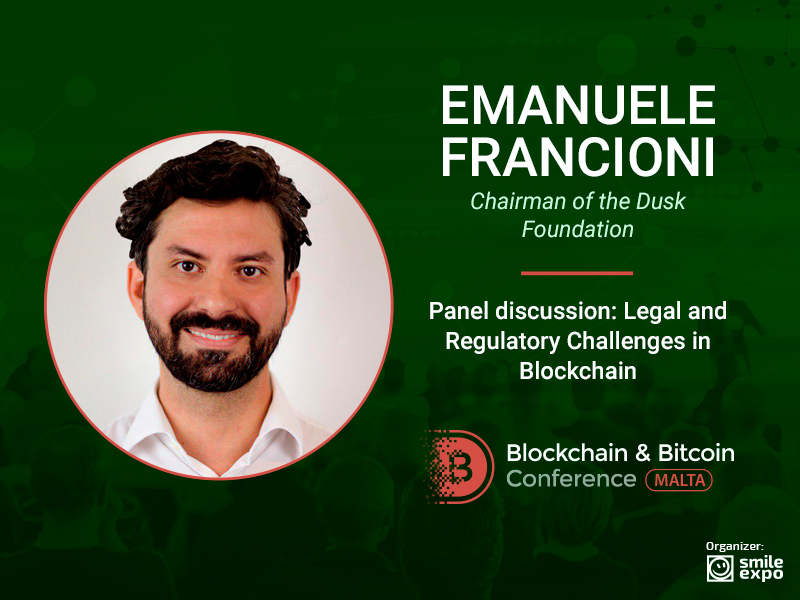 Legal Framework for Blockchain in Malta – Chairman of the Dusk Foundation Emanuele Francioni Will Discuss the Issue at the Conference