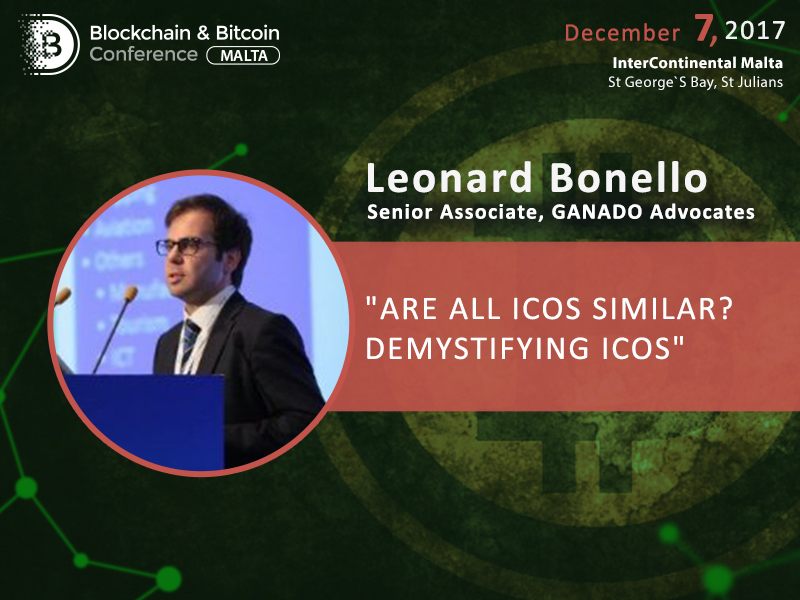 Leonard Bonello, Senior Associate at GANADO Advocates: Classification of cryptocurrency assets and aspects of ICO regulation