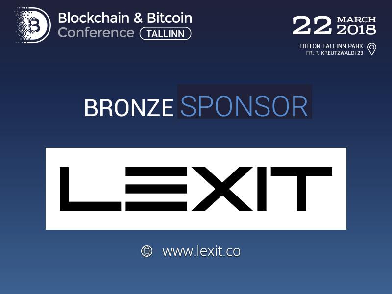 LEXIT: Bronze Sponsor of Blockchain & Bitcoin Conference Tallinn