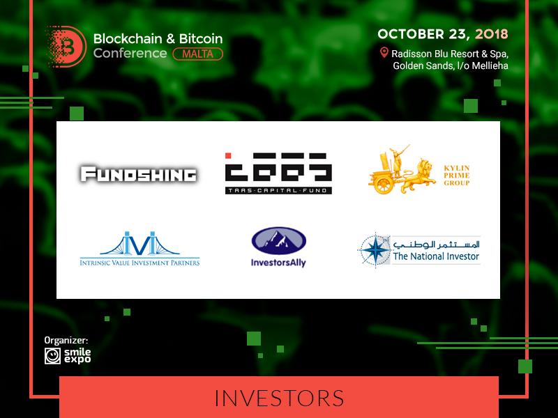 Major Investors Will Visit the Blockchain & Bitcoin Conference Malta