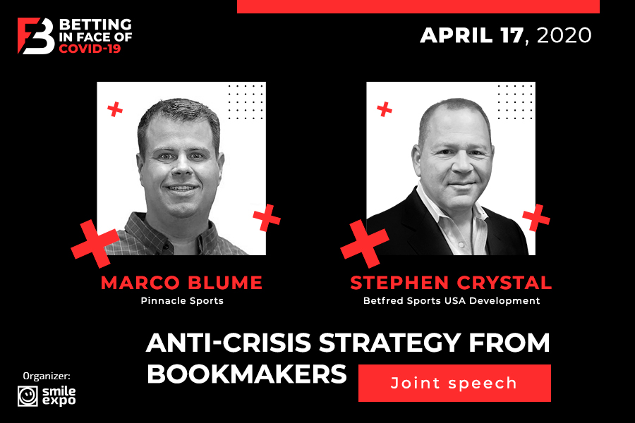 Marco Blume and Stephen Crystal to Discuss Anti-Crisis Strategies from Bookmakers at Betting in face of COVID-19