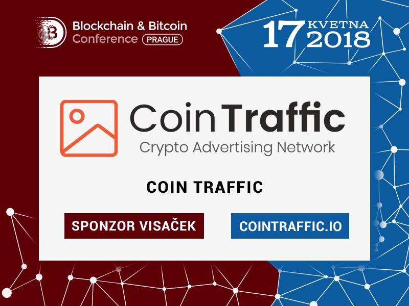 Mediální agentura CoinTraffic: sponzor Blockchain & Bitcoin Conference Prague