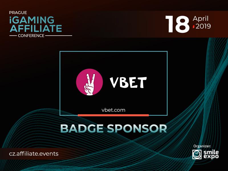 Meet Badge Sponsor of Prague iGaming Affiliate Conference – VBET