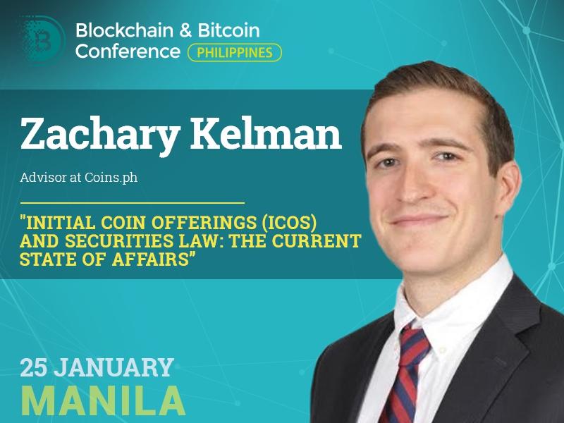 Meet conference speaker: Zachary Kelman, expert in ICO legal regulation