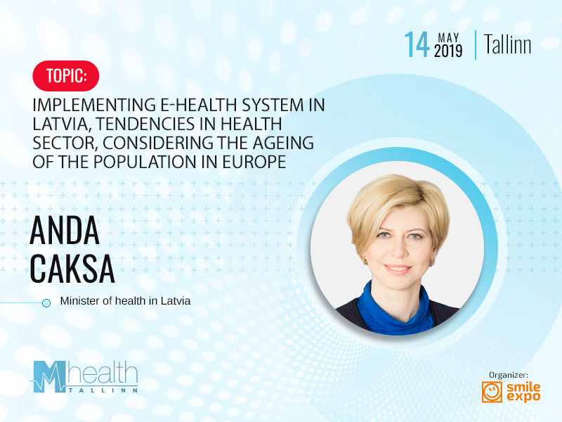 Minister of Health of Latvia will become a speaker of M-Health Congress Tallinn