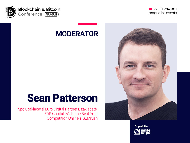 Moderátorem Blockchain & Bitcoin Conference Prague se stane spoluzakladatel Euro Digital Partners Sean Patterson