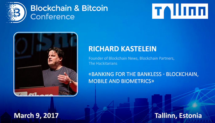 New approach to banking: blockchain, mobile and biometrics. Richard Kastelein's presentation