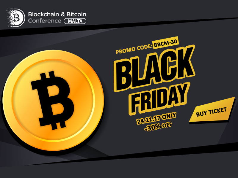 One day only! 30% off on tickets to Blockchain & Bitcoin Conference Malta
