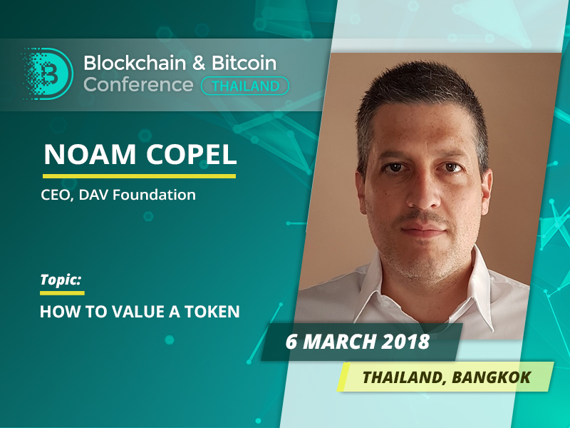 One of Israel's top influencers in blockchain industry Noam Copel will tell about types of tokens and review major ICO projects