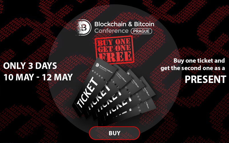 Only on May 10-12 – two tickets to Blockchain & Bitcoin Conference for the price of one