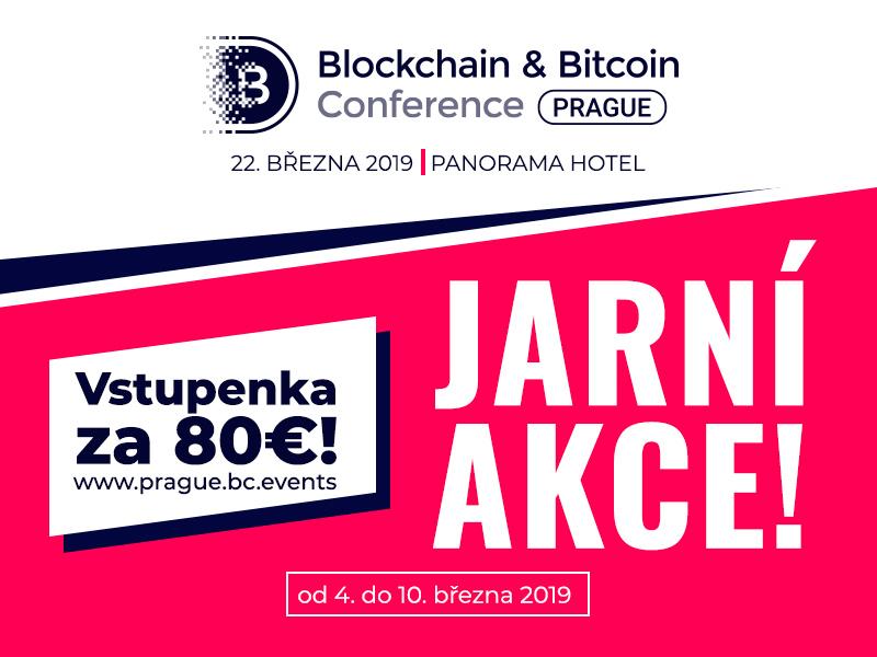 Oslavme spolu svátek jara: vstupenky na Blockchain & Bitcoin Conference Prague za 80 €