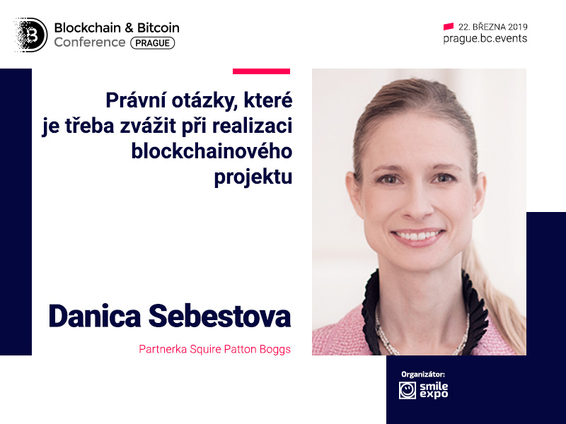 Partnerka Squire Patton Boggs Danica Šebestová promluví o právních otázkách kolem blockchainu