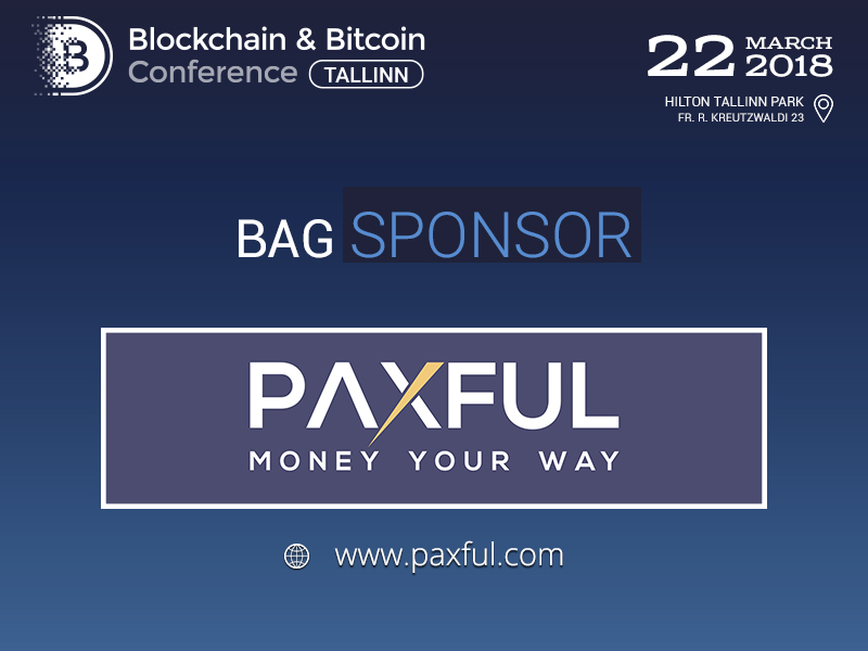 Paxful will be a Sponsor at Blockchain & Bitcoin Conference Tallinn