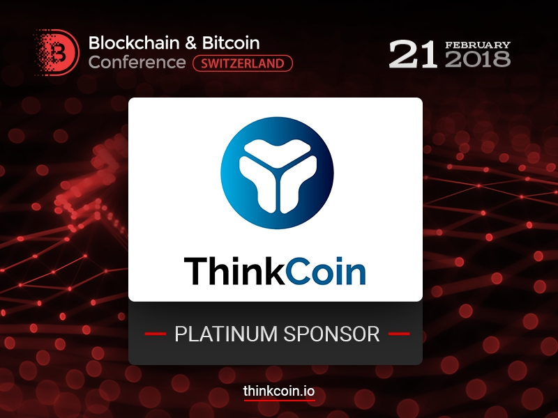 Platinum Sponsor of Blockchain & Bitcoin Conference Switzerland: ThinkCoin