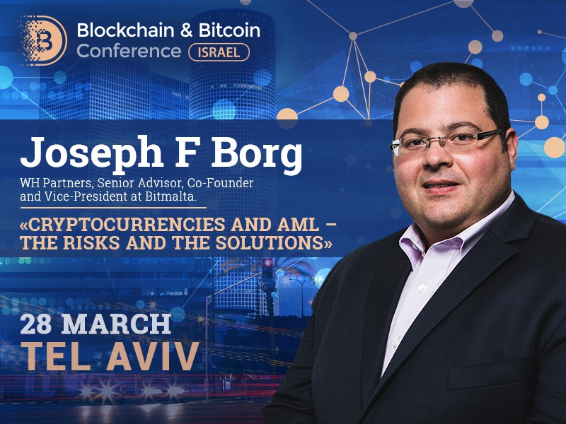 Problems of money laundering in crypto industry in Joseph F Borg's presentation at Blockchain and Bitcoin Conference Israel