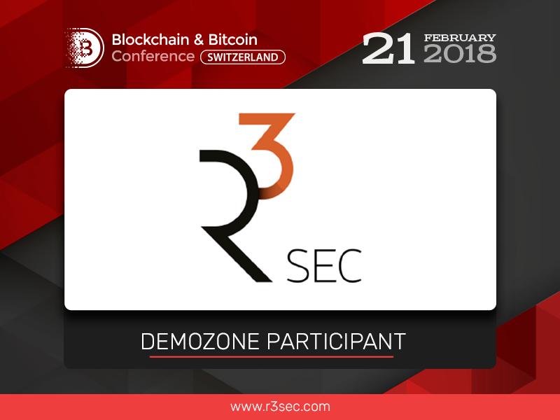 R3Sec, IT security developer, to participate in exhibition area at Blockchain & Bitcoin Conference Switzerland