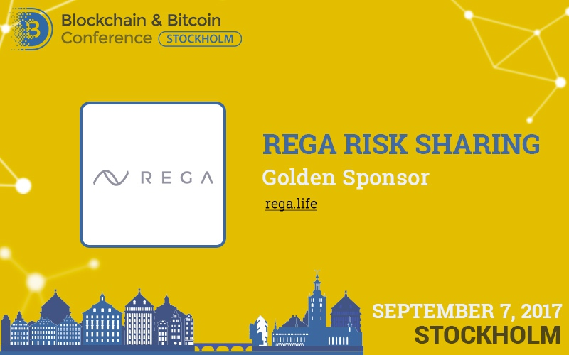 Rega Risk Sharing: Golden Sponsor and exhibitor of Blockchain & Bitcoin Conference Stockholm
