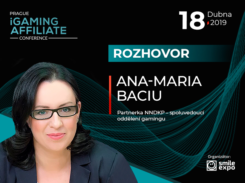 Regulace hazardu v Evropě: partnerka NNDKP Ana-Maria Baciu se zúčastní panelové diskuze