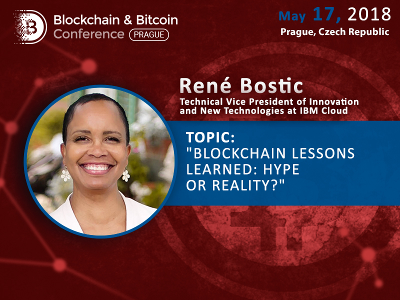 René Bostic, the American Expert in Emerging Cloud Technologies, will speak at the Blockchain & Bitcoin Conference Prague