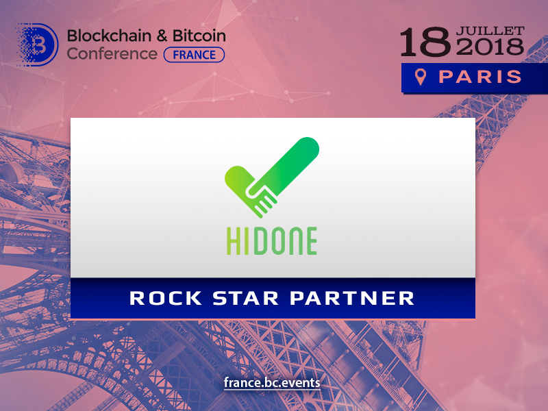 Rock star partner de « Blockchain & Bitcoin Conference France » – la société Hidone
