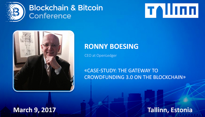 Ronny Boesing, OpenLedger CEO, will talk about the problems of decentralized crowdfunding