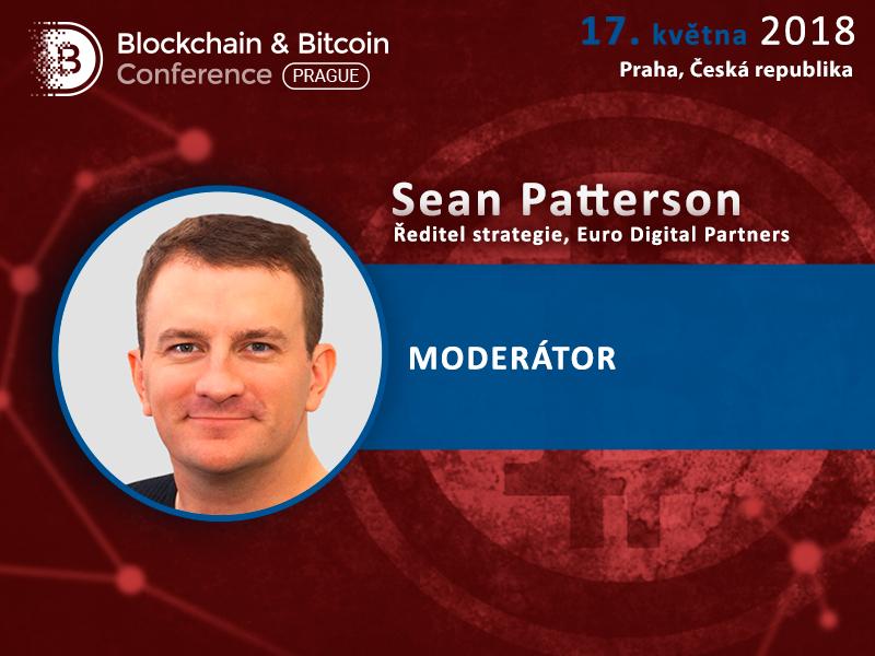 Sean Patterson bude moderovat konferenci o blockchainu a kryptoměnách