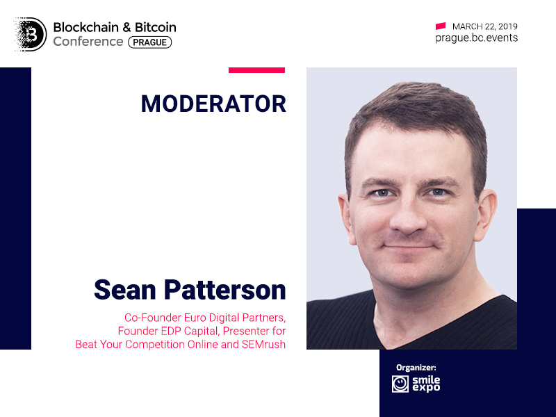Sean Patterson, Co-founder of Euro Digital Partners, to be a moderator of Blockchain & Bitcoin Conference Prague