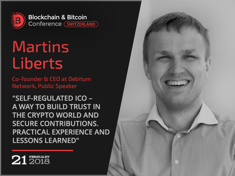 Self-regulated ICO: a way to secure contributions. Co-founder at Debitum Network to deliver a speech at Blockchain & Bitcoin Conference Switzerland