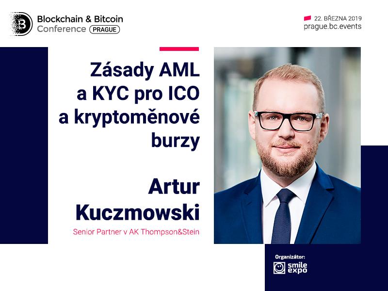 Senior Partner AK Thompson&Stein Artur Kuczmowski: přednáška o zásadách AML a KYC pro kryptoměnové burzy