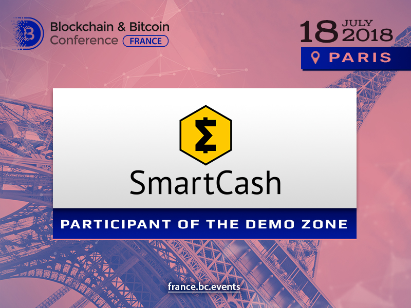 SmartCash to present its project at Blockchain & Bitcoin Conference France