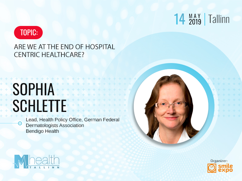 Sophia Schlette from the Federal Association of Dermatologists in Germany to speak at M-Health Conference Tallinn
