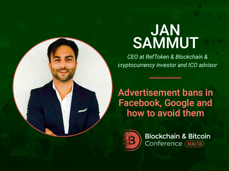 Strategies for young blockchain companies: Jan Sammut to reveal marketing secrets at Blockchain & Bitcoin Conference Malt