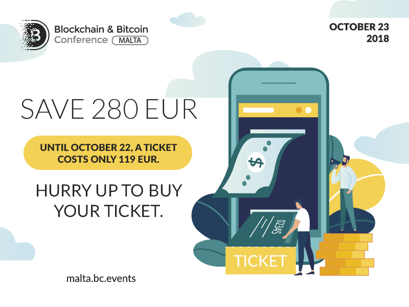 Ticket Sale: Discount on Blockchain & Bitcoin Conference Malta by Smile-Expo