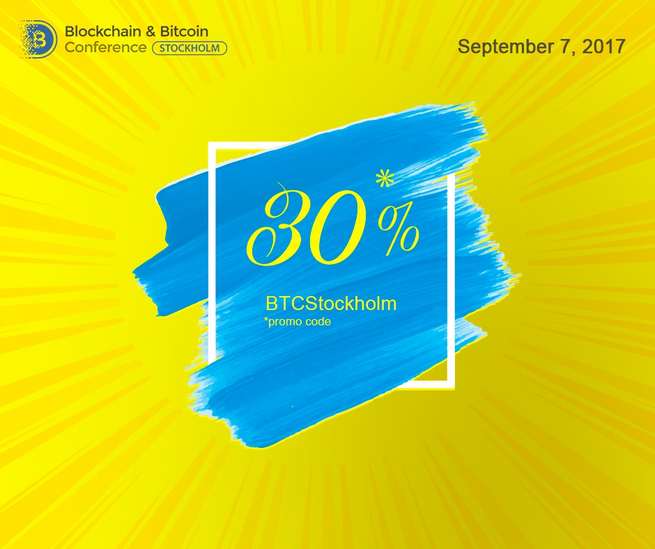 Tickets to the Blockchain & Bitcoin Conference with a 30% discount