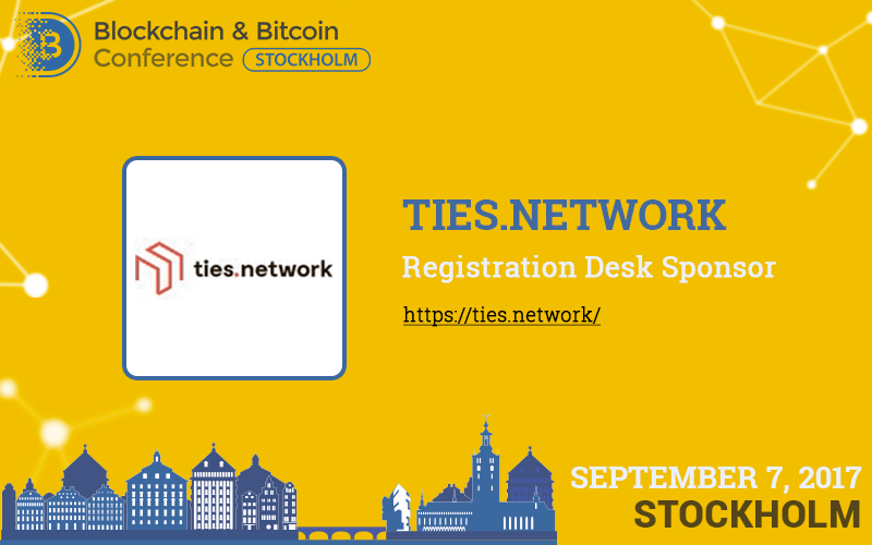Ties.Network is Registration Desk Sponsor at Blockchain & Bitcoin Conference Stockholm