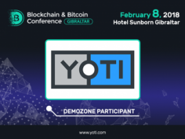 A platform for digital identification Yoti will be a demo zone participant at Blockchain & Bitcoin Conference Gibraltar