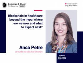Application of DLT in Healthcare: Presentation by the Co-Founder and COO 23 at Consulting – Anca Petre