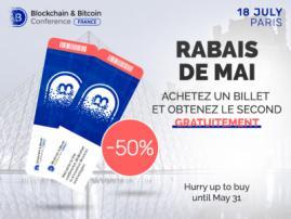 Billets pour Blockchain & Bitcoin Conference France: 2 pour le prix de 1! Dépêchez-vous: seulement 50 billets!